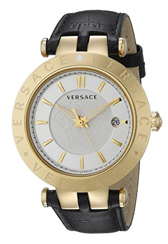 Versace-Mens-VQP040015-V-Race-Stainless-Steel-Watch-With-Black-Leather-Band-and-Interchangable-Toprings