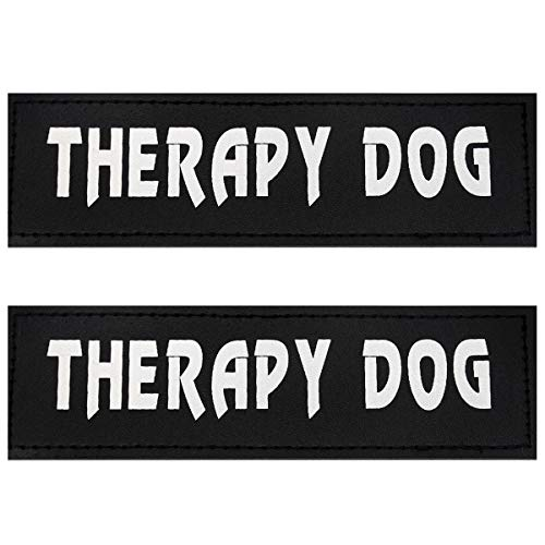 (Bolux Dog Vest Patches, 2 PCS Removable Patches Velcro for Dog Harness - Emotional Support/Service Dog/in Training/Therapy Dog/DO NOT PET/Keep Going PU Dog Halter Patches)