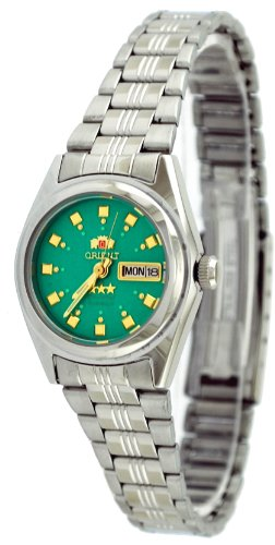 Orient #BNQ1X003N Women's Tri Star Light Green Dial Automatic Watch