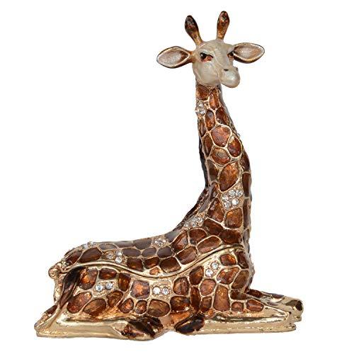 Jiaheyou Crystal Bejeweled Giraffe Figurine Trinket Jewelry Box Giraffe Collectible Figurine Gifts (Trinket Box Giraffe)