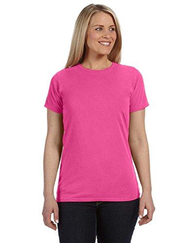 BC RINGSPUN GARMENT DYE TEE, PEONY, 2XL (Ringspun Garment Dye)