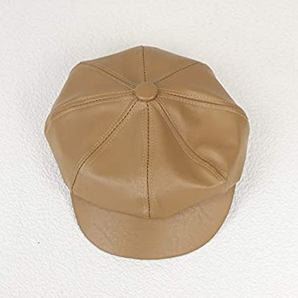 Amazon.com: GOP Store Leather Vintage Hats Newsboy Caps for Women Fashion Military Hat Gorras Planas Snapback Caps Female Berets Octagonal Cap: Kitchen & ...