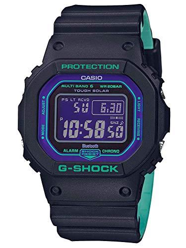 (Casio G-Shock GWB5600BL-1 Black Teal Digital Resin Watch )