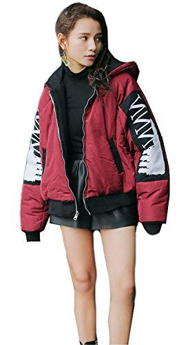 Abrigos Caliente Biker Jacket Schwarz Otoño Outdoor Cremallera Mujer Joven Bomber Invierno Chaquetas Chaqueta Moda Unisex Chaqueta Ligeros Acolchada Modernas College nIHYqxwv0S