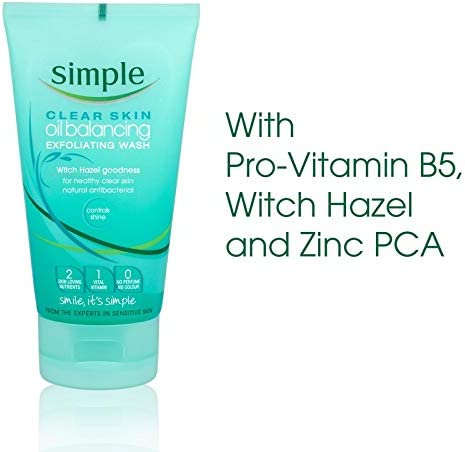 Clear Skin Oil Balancing Exfoliating Wash by Simple #5