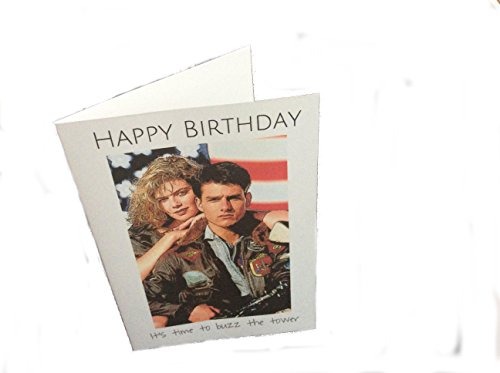 Prop Movie Guns Blank - Top Gun Maverick & Charlie novelty birthday movie greeting card