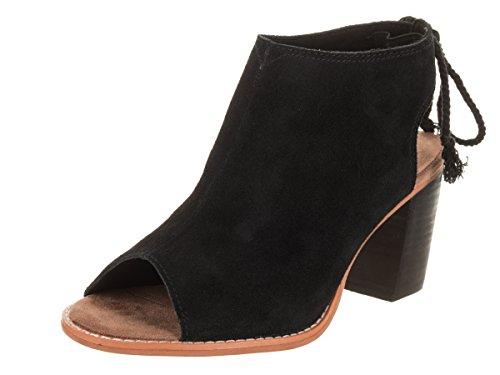 TOMS Women's Elba 10011796 Booties Black Suede (9 B(M) US)