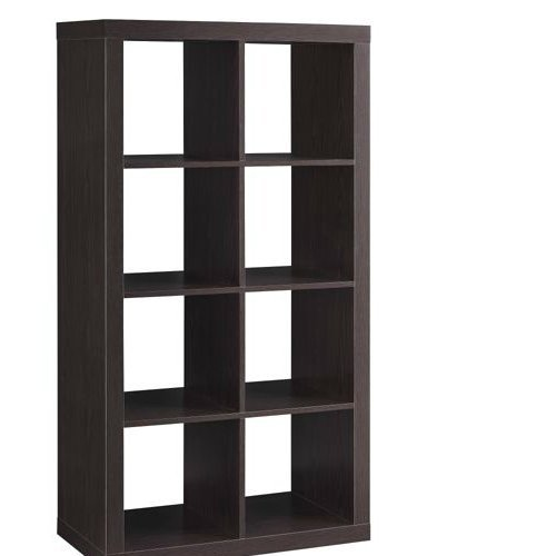 Better Homes and Gardens Furniture 8-Cube Room Organizer Storage DividerBookcase Espresso