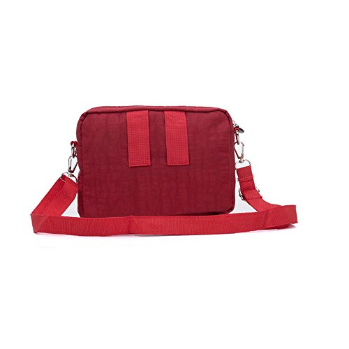 Messenger Solid Casual Travel Women Body SALLY YOUNG Bag Cross Bag Red Portable gHpF70nwq