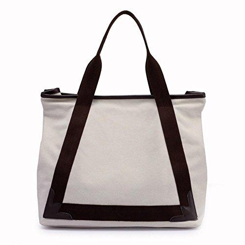 White hombro simple transpirable elegante bolso 40cmx18cmx34cm de lona señora tamaño terry Penao w7IAaqPRw