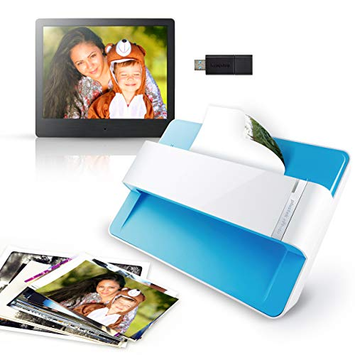 "Plustek Photo Digital Kits - CCD Photo Scanner with Feeder + 8"" Digital Photo Frame (1024x768) + 32G USB Drive - Total Personal Photo Digitization Solution..."
