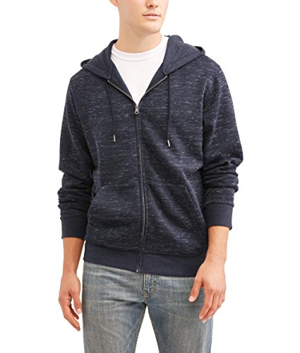 Mens Full Zip Navy Hoodie (Large 42/44)