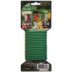Get Soft Wire ties on Amazon.com - these are perfect for training large, tall cannabis plants; though they are overkill for smaller plants.