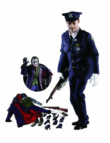 Hot Toys' The Dark Knight: 1:6 Scale The Joker (Gotham City Police) Movie Masterpiece Series Deluxe Figure - Two Face Dark Knight Costumes