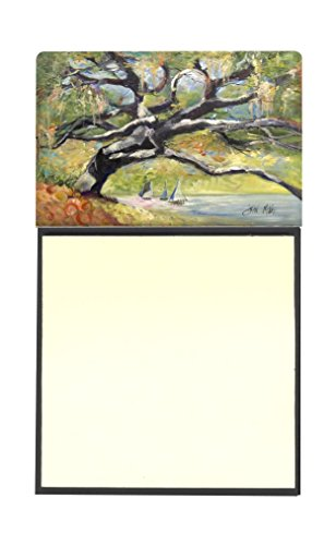 "UPC 615872955787, Caroline's Treasures Oak Tree on the Bay with Sailboats Sticky Note Holder, 3.25 by 5.5"", Multicolor"