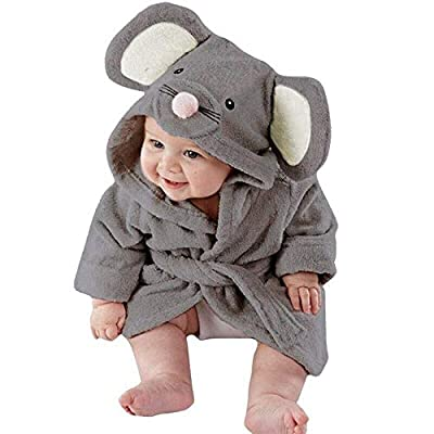 LNGRY Baby Clothes,Toddler Newborn Girls Boys Cartoon Animals Hooded Bathrobe Towel Pajamas Cloak Clothes