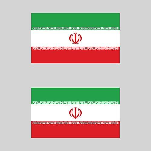 Iran Iranian Flag Car Chrome Emblem Decal Sticker