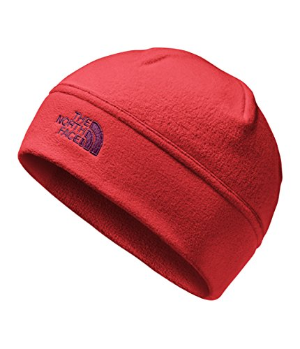 (The North Face Unisex Standard Issue Beanie Rage Red/Fig Heather SM/MD)