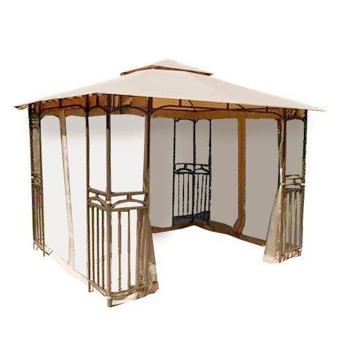 Garden Winds Curved Corner Panel Gazebo Replacement Canopy, RipLock (Corner Gazebo)