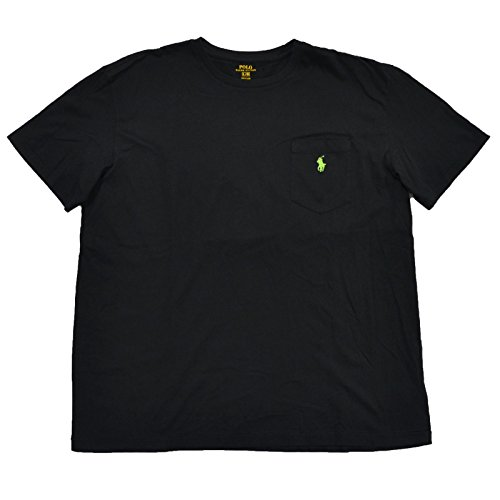 Polo Ralph Lauren Mens Pocket T-shirt Short Sleeve Crew Neck (XL, Classic RL Black)