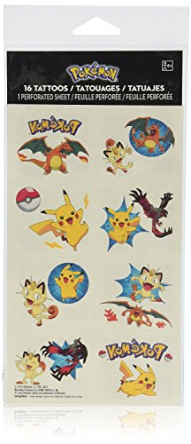 Amscan-Cute-Pikachu-and-Friends-Birthday-Party-Temporary-Tattoos-Favor