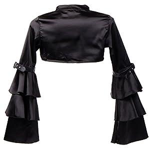 Alivila.Y Fashion Women's Flannel Satin Long Sleeve Steampunk Retro Vintage Jacket Shrug