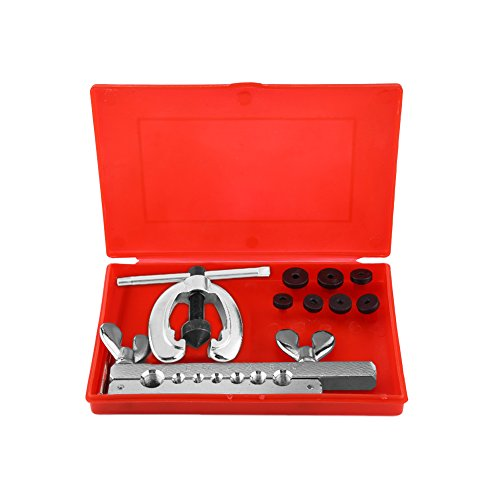 Estink Flare Tool Kit,9pcs Industrial Universal Hydraulic Pipe Flaring and Swaging Swage Metric Tool Kit with Hand Carrying Case