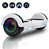 Felimoda 6.5' inch Two Wheels Electric Smart Self Balancing Scooter Hoverboard with Wireless Speaker LED Light-UL 2272 Certified for Kids Gift and Adult,White