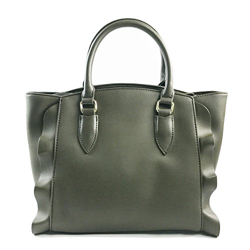 Handle Leather Fashionable Handbag Pu Fochier Green Army Large Tote Purse Bag Women TZxngCwq