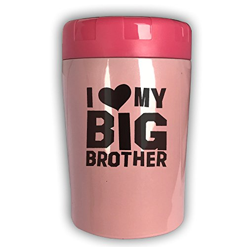 I Love My Big Brother Thermos Cup Travel Insulation Kettle Stew Pot Outdoor Tableware Stew Mug Burning Bottle Vacuum Insulated Food Jar Pink