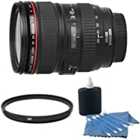 Canon EF 24-105mm f/4 L IS USM (White Box) With UV Filter & Celltime Cleaning Kit