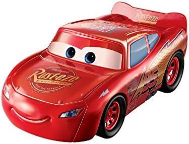 Disney Pixar Cars Coffret Voiture Flash McQueen Grande Echelle, transformable en piste de course, jouet pour enfant, FCW04
