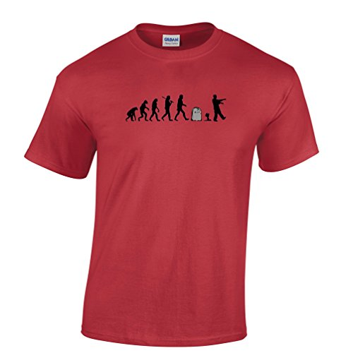 Zombie Evolution Undead Gravestone Dead Mens T-Shirt (Gravestone Sayings)