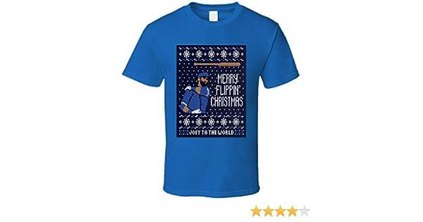 T-Shirt Bandit Jose Bautista Joey Bats Merry Flippin Ugly Christmas ...