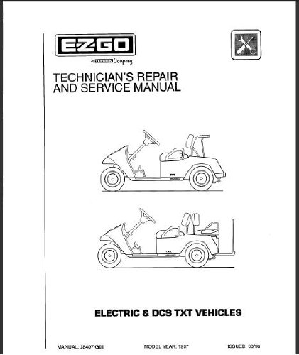 amazon com ezgo 28407g01 1997 1998 technician s service and repair rh amazon com E-Z-Go RXV E-Z-Go RXV