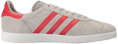 Adidas Originals Herren Gazelle Schnür-Sneaker Mittelgrau Heather / Light Scarlet / Weiß