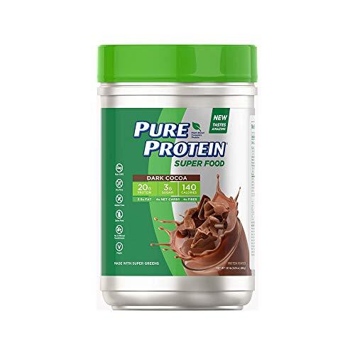 Pure Protein Super food dark cocoa protein powder 1.5 pound, 1.5 Pound