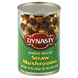 DYNASTY Whole Peeled Straw Mushrooms , 15 Ounce Can  3-Pack For Sale