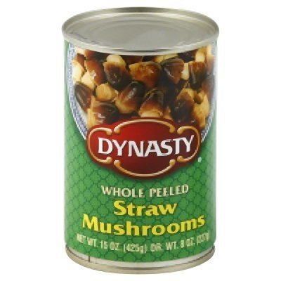 DYNASTY Whole Peeled Straw Mushrooms , 15 Ounce Can  3-Pack