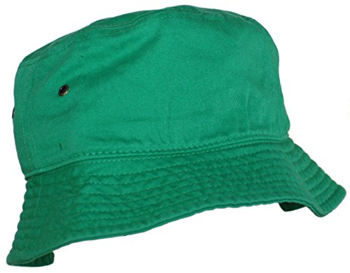 Ted and Jack - Beachside Solid Cotton Bucket Hat in Kelly Green size S/M