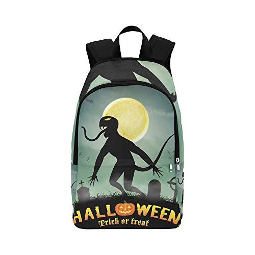 YSWPNA Halloween Silhouette Monster Night Graveyard Casual Daypack