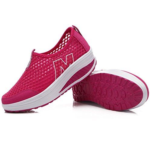 Mailles Compensée Plateforme Sport de Léger Femme Marche Gym de Baskets Hishoes Fitness Chaussures p5wqWRS5U