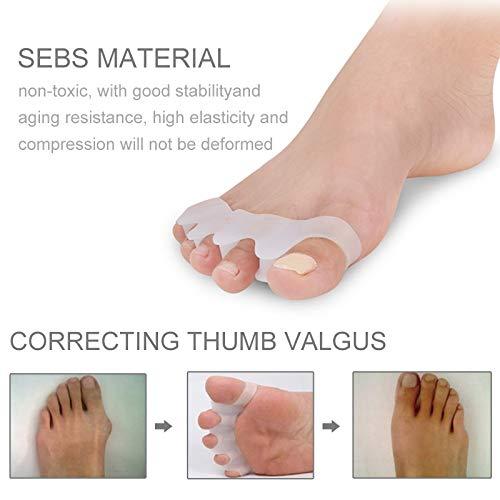 Zhaodong Meine 1 Paar Unisex Weiche Leichte Zehe Valgus KieferorthopädieToe Separation Toe Care Clip Fingerschutz (Weiß) Zhaodong (Color : White)
