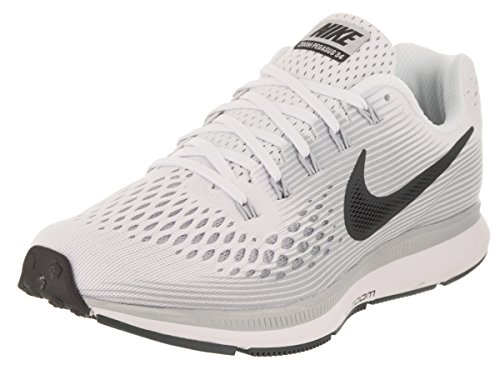 NIKE Women's Air Zoom Pegasus 34 White/Anthracite Pure Platinum Running Shoe 7 Women US