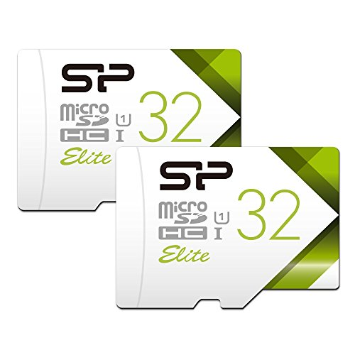 Silicon Power 32GB 2-Pack High Speed MicroSD Card with Adapter