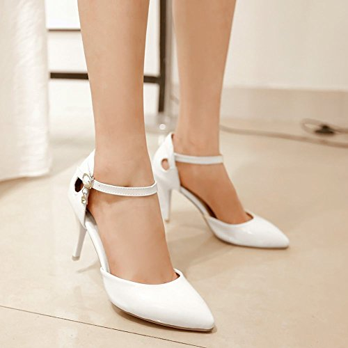 Fashion Frauen wies Heel Carolbar Weiß Toe High Grace Pumps Stiletto vgwx6qSP6