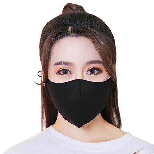 iHomey 3-Pack Black Cotton Thin Breathable Dust-proof and Anti-flu Mouth Mask Fit for Spring/Summer/Autumn by iHomey