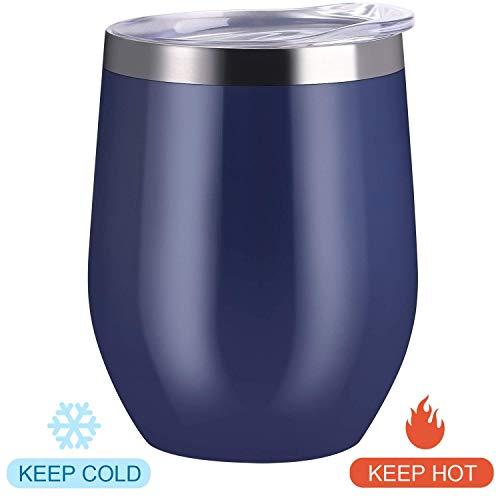 Blue glass tumbler