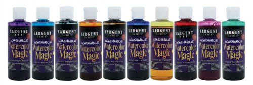 Sargent Art 22-6210 10-Count 4-Ounce Watercolor Magic ()