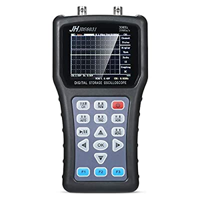 Leepesx Handheld Digital 1CH Oscilloscope Portable Scope Meter Digital Storage Oscilloscope 30MHz 200MSa/s with USB Charger Probe Cable Set Oscilloscope